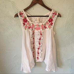 Raga Embroidered Lace Tank Top